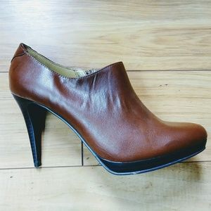 Worthington brown ankle booties size 8.5